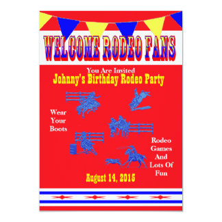 Western Rodeo Cowboy Or Cowgirl Party Card