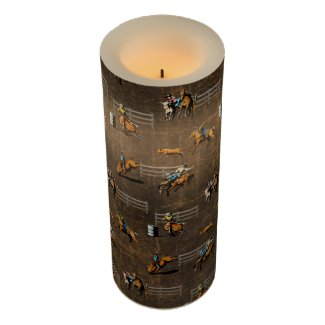Cowboy Design LED Candle