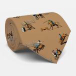Western Rodeo Event Scene Cowboy Cowgirls Horses Tie
