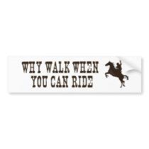 Western - rodeo - horse theme bumperstickers bumper sticker