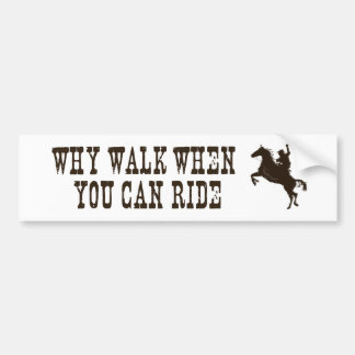 Western - rodeo - horse theme bumperstickers car bumper sticker