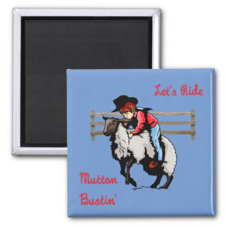 Western Rodeo Mutton Bustin' Magnet