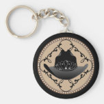 Western Rodeo Queen Cowgirl Keychain