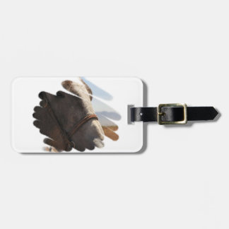 Western Rodeo | Stallion Horse Head Face Portrait Bag Tag