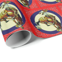 Western Rodeo Vintage Cowboy On Bucking Horse Wrapping Paper
