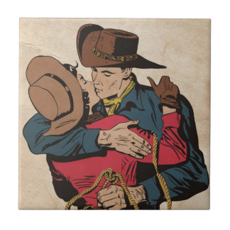Western Romance Small Square Tile