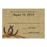 Western Rope and Horse Shoes Response Personalized Invites