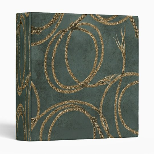Western Rope Teal Green ~ Binder 1 Touch EZD Ring