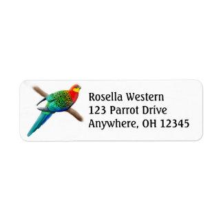 Western Rosella Parrot Label