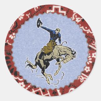 Western Round Up Buckin Cowboy Sticker