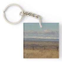 Western Rural Landscape Photo Keychain