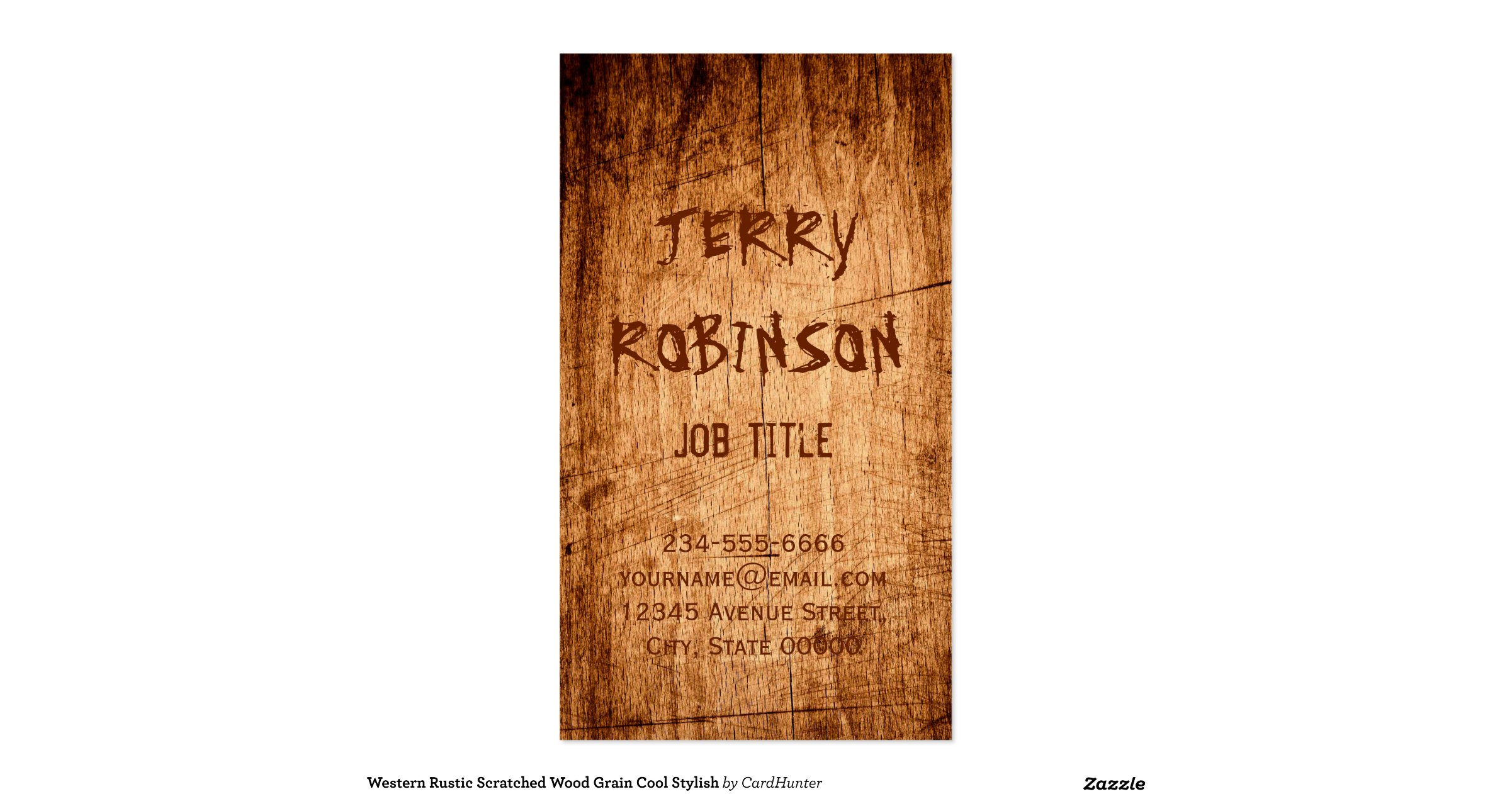 western rustic scratched wood grain cool stylish double