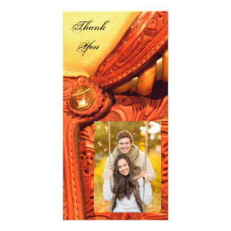 Western Saddle Country Thank You Card