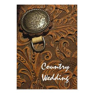 "Western Saddle Country Wedding Invitation 5"" X 7"" Invitation Card"