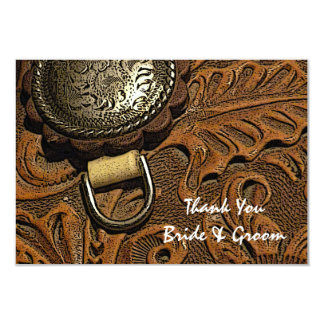 """Western Saddle Country Wedding Thank You Note 3.5"""" X 5"""" Invitation Card"""