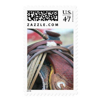 Western Saddle Postage Stamp - Saddle and Tack