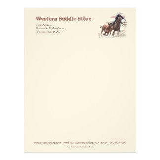 Western saddlery business letterhead