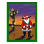 WESTERN SAGUARO CHRISTMAS TREE PARTY INVITATION