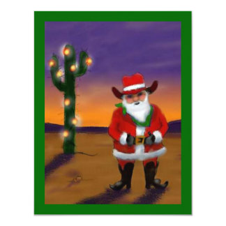 WESTERN SAGUARO CHRISTMAS TREE PARTY INVITATION