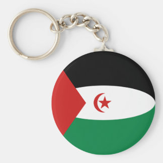 Western Sahara Fisheye Flag Keychain