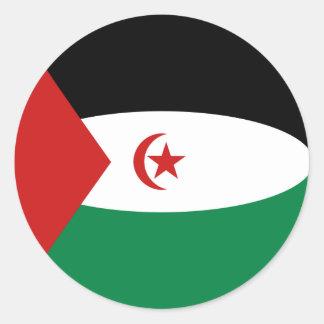 Western Sahara Fisheye Flag Sticker