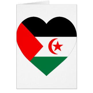 Western Sahara Flag Heart Card