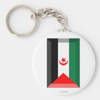 Western Sahara Flag Jewel Key Chains