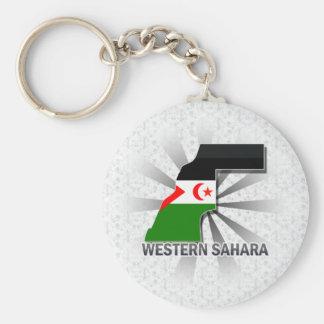 Western Sahara Flag Map 2.0 Keychains