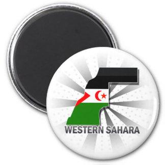 Western Sahara Flag Map 2.0 Fridge Magnet