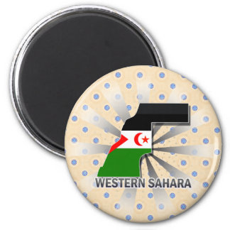 Western Sahara Flag Map 2.0 Magnet