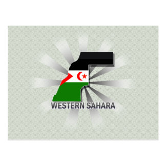 Western Sahara Flag Map 2.0 Postcard
