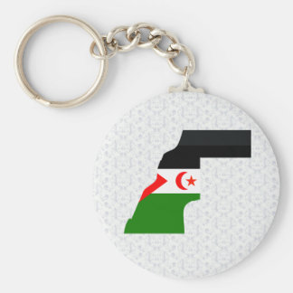 Western Sahara Flag Map full size Keychains
