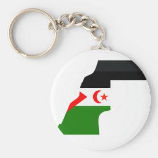 Western Sahara flag map Keychain