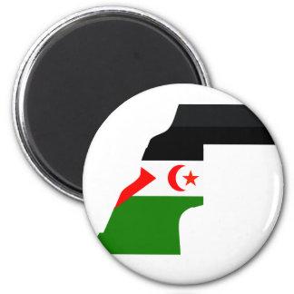 Western Sahara flag map Fridge Magnet