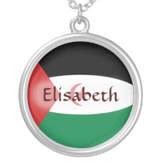 Western Sahara Flag + Name Necklace