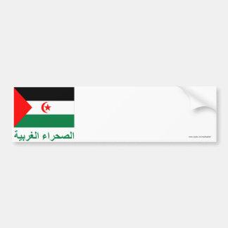 Western Sahara Flag with Name in Arabic Bumper Sticker
