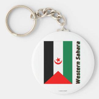 Western Sahara Flag with Name Key Chain