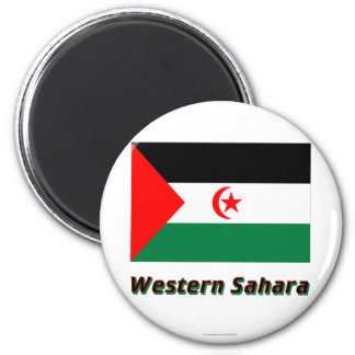 Western Sahara Flag with Name Magnet