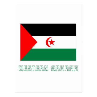 Western Sahara Flag with Name Postcard