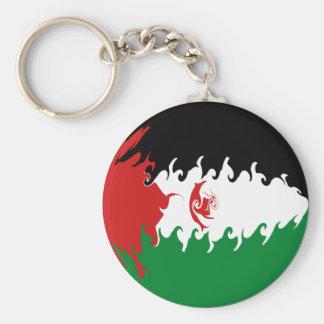 Western Sahara Gnarly Flag Keychain