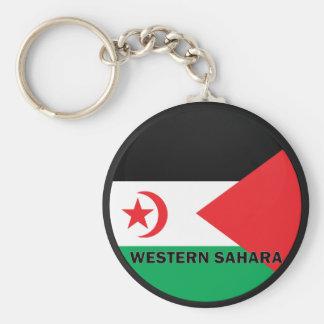 Western Sahara Roundel quality Flag Key Chain