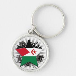 Western Sahara Star Keychains