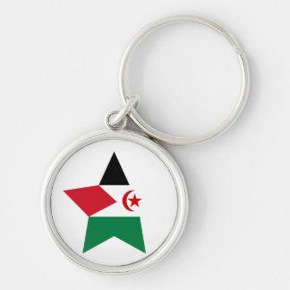 Western+Sahara Star Keychain