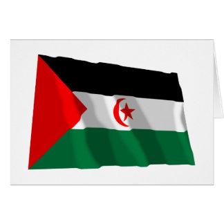 Western Sahara Waving Flag Card