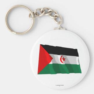 Western Sahara Waving Flag Keychain