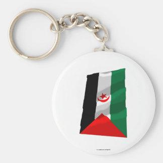Western Sahara Waving Flag Keychains