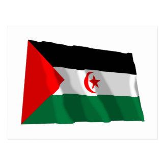 Western Sahara Waving Flag Postcard