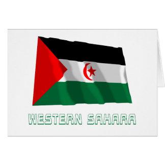 Western Sahara Waving Flag with Name Card