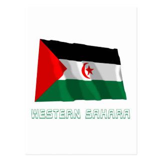 Western Sahara Waving Flag with Name Postcard