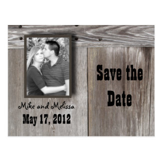 Western save the date Postcard